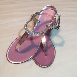 Nine West Pink and Silver Sandals